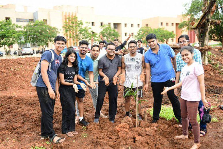 Plantation at Goa Institute of Management